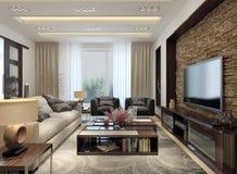 Moderne Art des Wohnzimmers Lizenzfreie Stockfotos