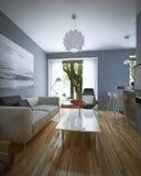 Moderne Art des Wohnzimmers Stockbilder