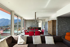 Moderne Art, Wohnzimmer Stockbild