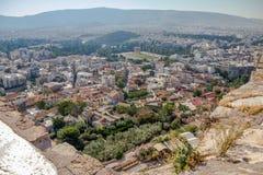 Moderne Athene en Tempel van Zeus van de Akropolis royalty-vrije stock foto's