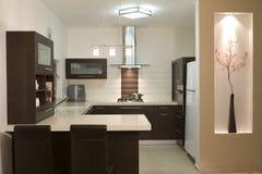 Moderne Auslegung der Küche stockfotos