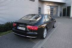 Moderne auto: Audi A8 Royalty-vrije Stock Afbeelding