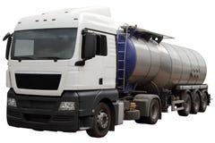 Moderne auto voor vervoer van brandstof stock foto
