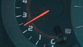 Moderne autotachometer stock videobeelden