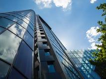 Moderne Bürogebäude im Finanzbezirk von Frankfurt, Deutschland Stockfoto