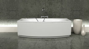 Moderne bad en kranen royalty-vrije illustratie