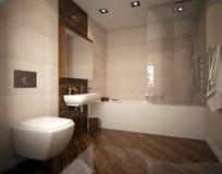 Moderne Badezimmerauslegung Stockfoto