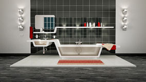 Moderne Badkamers Stock Afbeelding