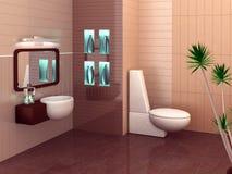 Moderne badkamers royalty-vrije stock foto's