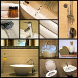 Moderne badkamers - collage royalty-vrije stock afbeeldingen