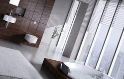 Moderne badkamers met Jacuzzi Royalty-vrije Stock Fotografie