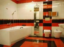 Moderne Badkamerslevensstijl stock afbeeldingen
