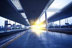 Moderne Bahnstation Stockbild