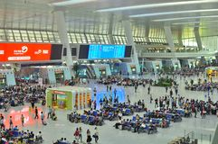Moderne Bahnstation Chinas Stockfotografie