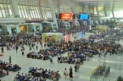 Moderne Bahnstation Chinas Lizenzfreies Stockfoto