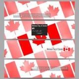 Moderne banners Nationale Vlag van de Dag van Canada Samenvatting gestippelde vectorachtergrond Royalty-vrije Stock Foto's