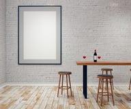 Moderne bar met leeg aanplakbord Royalty-vrije Stock Fotografie