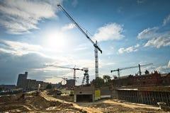 Moderne Baustelle Lizenzfreie Stockfotos