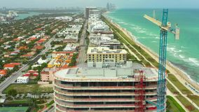 Moderne Baustelle des Miami Beachs stock video footage