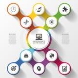 Moderne bedrijfs kleurrijke infographicsoptie abstracte vectorillustratie Stock Foto