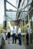 Moderne Bedrijfsmensen in Stad stock afbeelding