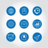 Moderne bedrijfspictogrammen Stock Afbeeldingen