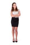 Moderne Bedrijfsvrouw/vrouwelijke student Royalty-vrije Stock Foto's