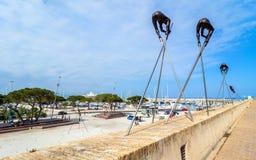 Moderne beeldhouwwerken in Antibes Royalty-vrije Stock Afbeelding