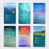 Moderne Benutzerschnittstellen-Schirmschablone für Mobile Stockfotos
