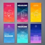 Moderne Benutzerschnittstellen-Schirmschablone für Mobile Stockfoto