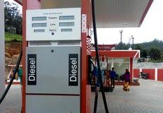 Moderne Benzine Diesel Pomp op een afgelegen gebied Stock Fotografie