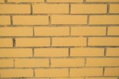moderne Beschaffenheitshintergrundwand des gelben Ziegelsteines Lizenzfreies Stockbild