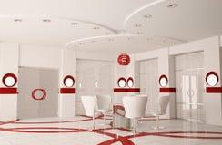 Moderne bestuurskamer binnenlandse 3d Stock Foto's