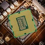 Moderne bewerker en motherboard Stock Afbeeldingen
