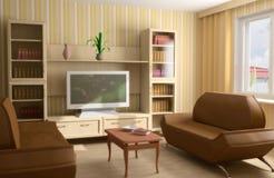 Moderne binnenlandse 3d stock illustratie