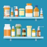 Moderne binnenlandse apotheek of drogisterij Stock Fotografie