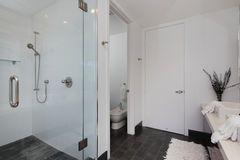 Moderne binnenlandse badkamers Royalty-vrije Stock Afbeelding