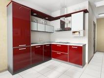 Moderne binnenlandse keuken stock fotografie
