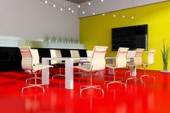 Moderne binnenlandse ruimte voor vergaderingen Stock Afbeeldingen