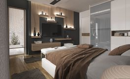 Moderne binnenlandse visualisatie 2 Royalty-vrije Stock Afbeelding