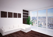 Moderne binnenlandse woonkamer, zitkamer Royalty-vrije Stock Foto's