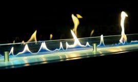Moderne biofireplotopen haard op ethylalcoholgas stock foto's