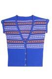 Moderne blaue warme Weste auf einem Weiß. Lizenzfreie Stockfotografie