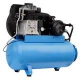 Moderne blauwe compressor royalty-vrije stock afbeelding