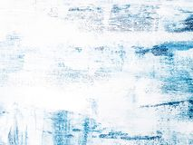 Moderne Blauwe en Witte Kleur Abstract Art Painting royalty-vrije stock foto