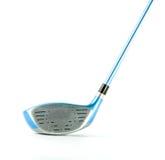 Moderne blauwe geïsoleerde golfclub Stock Afbeeldingen