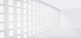 Moderne blauwe glasmuur van de bureaubouw Royalty-vrije Stock Foto