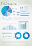 Moderne blauwe infographic royalty-vrije illustratie