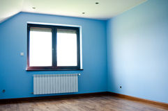 Moderne blauwe ruimte Royalty-vrije Stock Afbeelding