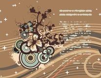 Moderne bloemenachtergrond stock illustratie
